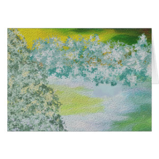 Winter Sky and Land Art Greeting Card