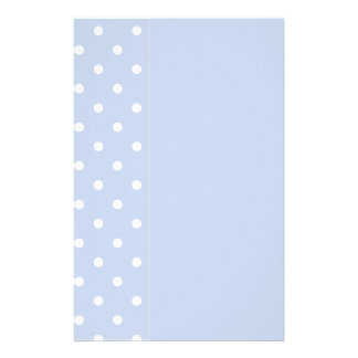 Winter Sky Blue Personalized Stationery