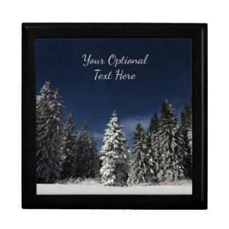 Winter Sky custom text gift box