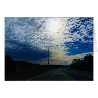 Winter Sky in Canberra Greeting Card
