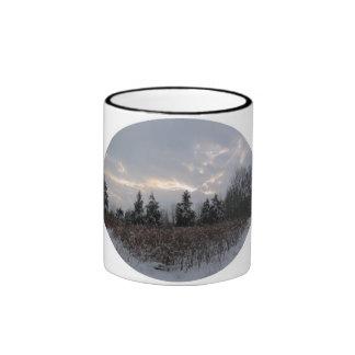 Winter sky ringer mug