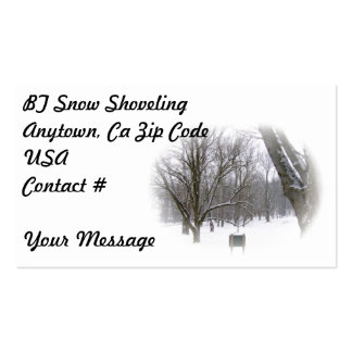 Winter Sleep in Matte Business Cards