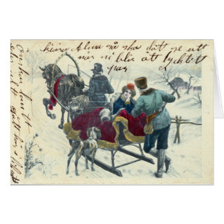 Winter Sleigh Ride Cards