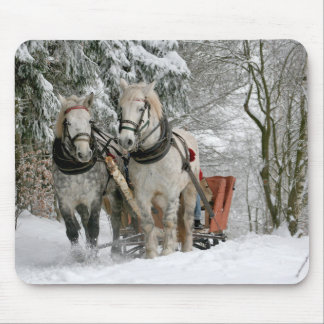 Winter Sleigh Ride Mousepad