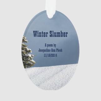 Winter Slumber Poetry Ornament