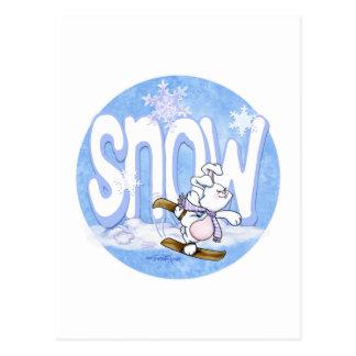 Winter - Snow Bunny Postcard