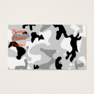 Winter/Snow Camouflage Business Card