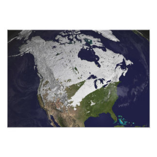 Winter Snow Cover in the Northern Hemisphere Photograph