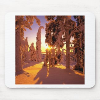 Winter Snow Covered Finland Mouse Pad