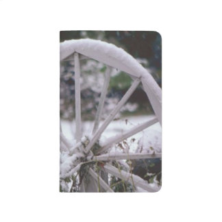 Winter Snow Covered Wagon Wheel Rustic Scenic Journal