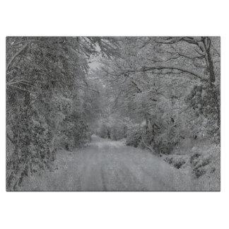 Winter Snow Cutting Board