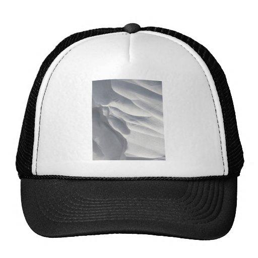Winter Snow Drift Sculpture Mesh Hat