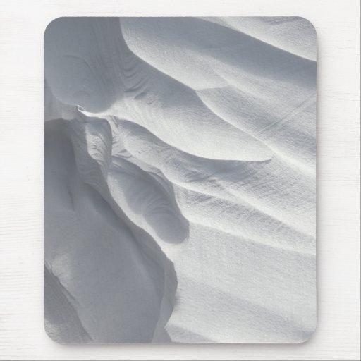 Winter Snow Drift Sculpture Mousepad