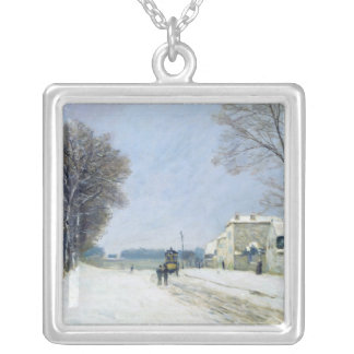 Winter, Snow Effect, 1876 Silver Plated Necklace