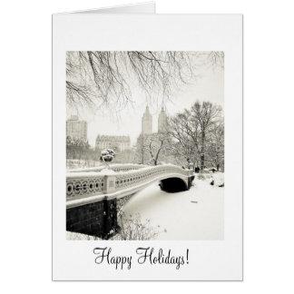 Winter Snow - Happy Holidays Greeting Card