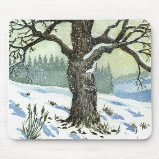 Winter Snow Holiday Peace Love Destiny Grace Mousepads