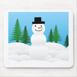 Winter Snow Holiday Tree Party Destiny Celebration Mouse Pad