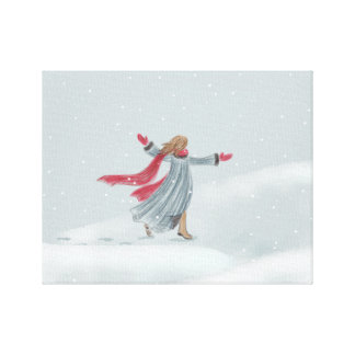 Winter Snow Joy Canvas Print
