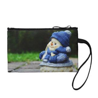 winter, snow man, fig, snow, snowmen, wintry, deco coin wallet