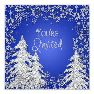 """Winter Snow Multi-Purpose Invitation 5.25"""" Square Invitation Card"""