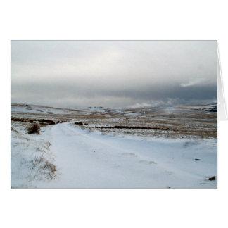 Winter Snow on Dartmoor Card