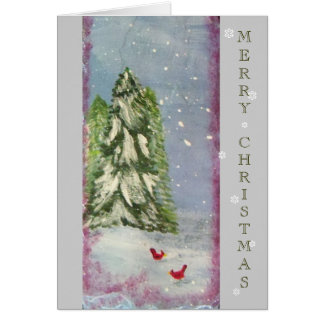 Winter Snow on Slate Card
