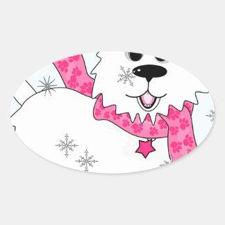 Winter snow play stickers
