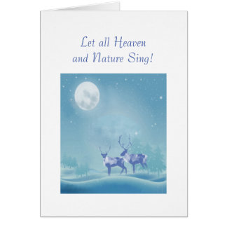 Winter Snow Reindeer Christian Scripture Christmas Card