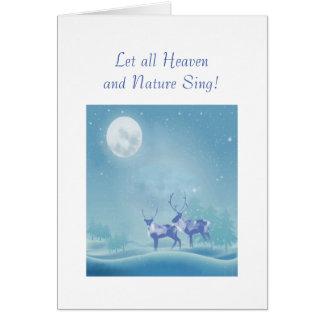Winter Snow Reindeer Christian Scripture Christmas Greeting Card