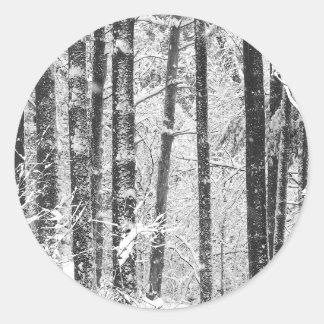 Winter Snow Round Sticker