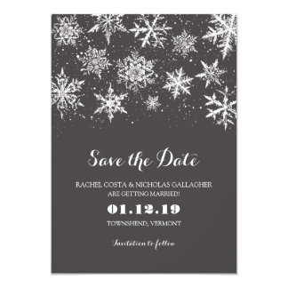 Winter Snow | Save the Date Card