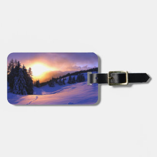 Winter Snow Scene in Italy Luggage Tag