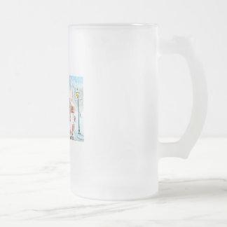 Winter snow scene watercolour painting G Bruce Coffee Mug