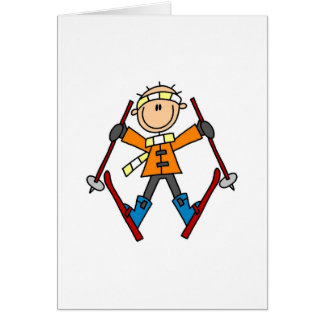 Winter Snow Ski Card