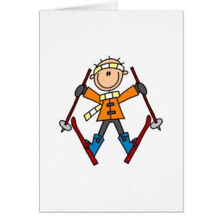 Winter Snow Ski Card