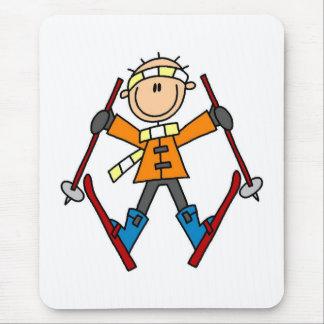 Winter Snow Ski Mouse Pad
