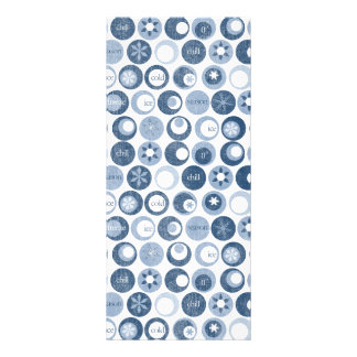 winter snow snowflake circles blue personalized rack card