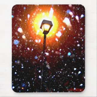 Winter Snow Storm At Night Mouse Pad