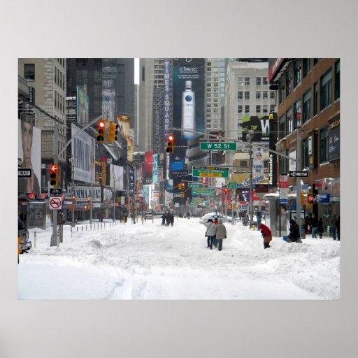 Winter Snow Storm New York City 12/26/10 Print