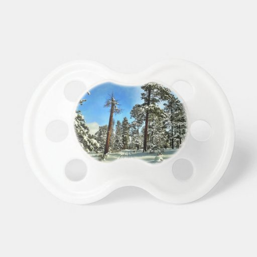 Winter Snow Trails in the Woods Trees Forest Gifts Pacifier