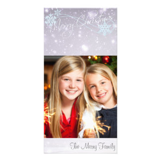 Winter Snow Xmas Card with Your Photo Picture Card