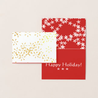 Winter Snowfall foil holiday greeting card