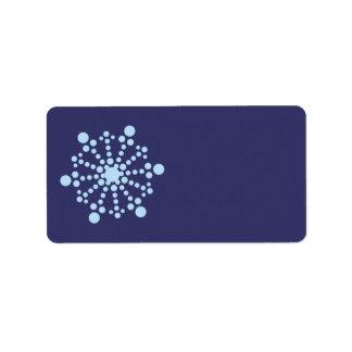 Winter Snowflake 1 Label