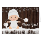 Winter Snowflake Baby Shower Thank You Cards