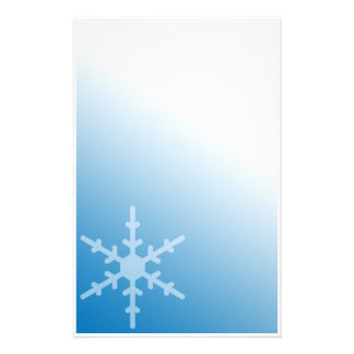 Winter Snowflake Blue Gradient Stationery