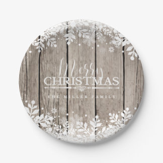 Winter Snowflake, Christmas Paper Plate