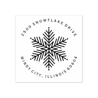 Winter Snowflake | Holiday Rubber Stamp