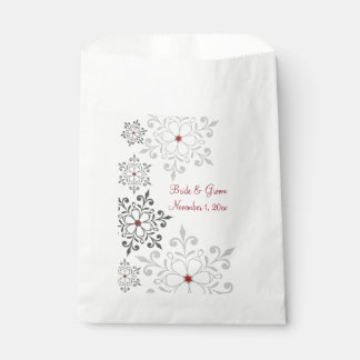 Winter Snowflake Holiday Wedding Favour Bags