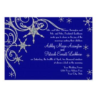 Winter Snowflake Jewels n Bling Swirl Wedding Card