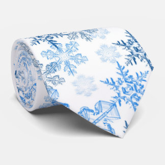 Winter Snowflake Men's Tie